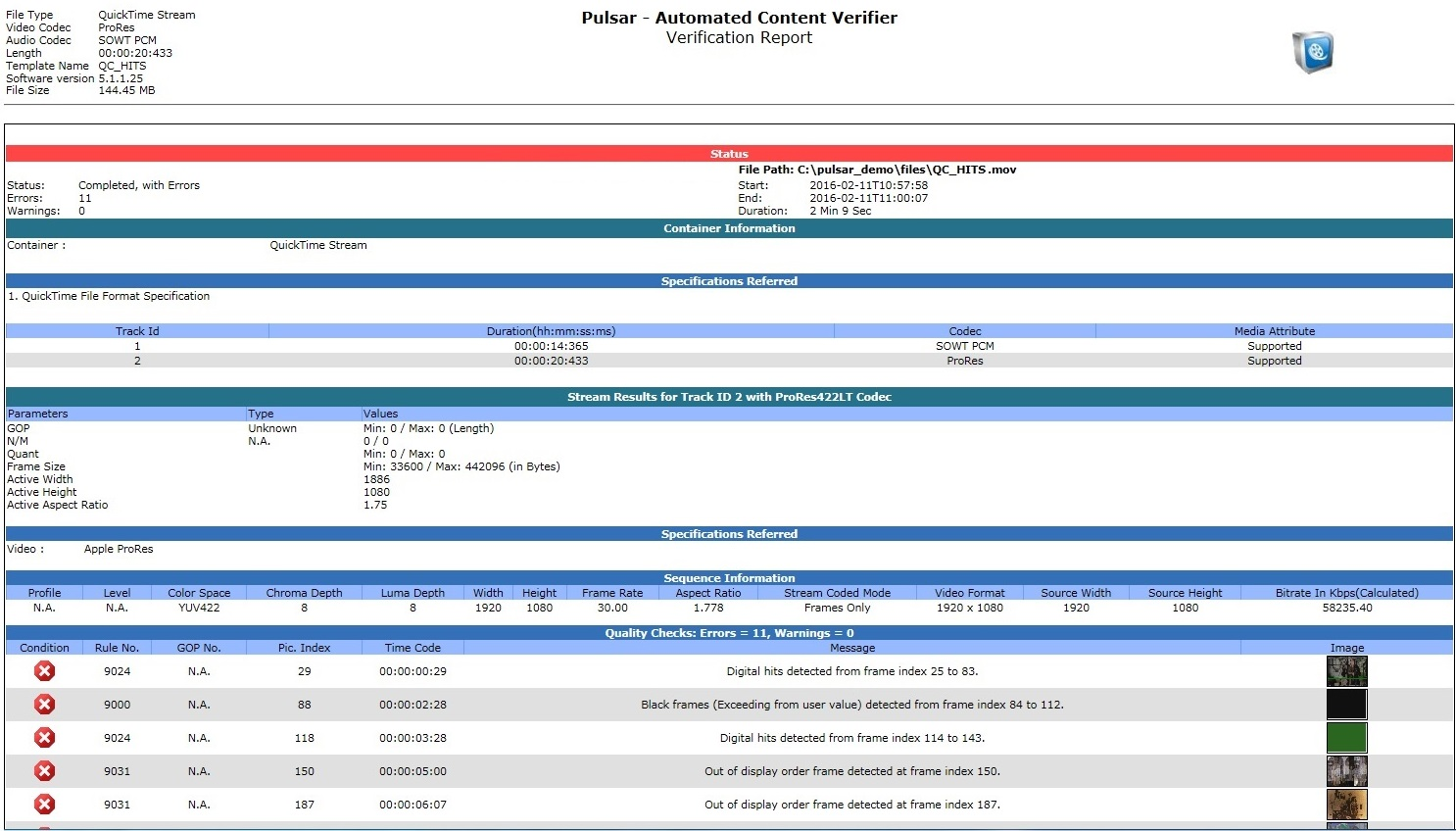 Screenshot - Pulsar Report (5.1.1.27)