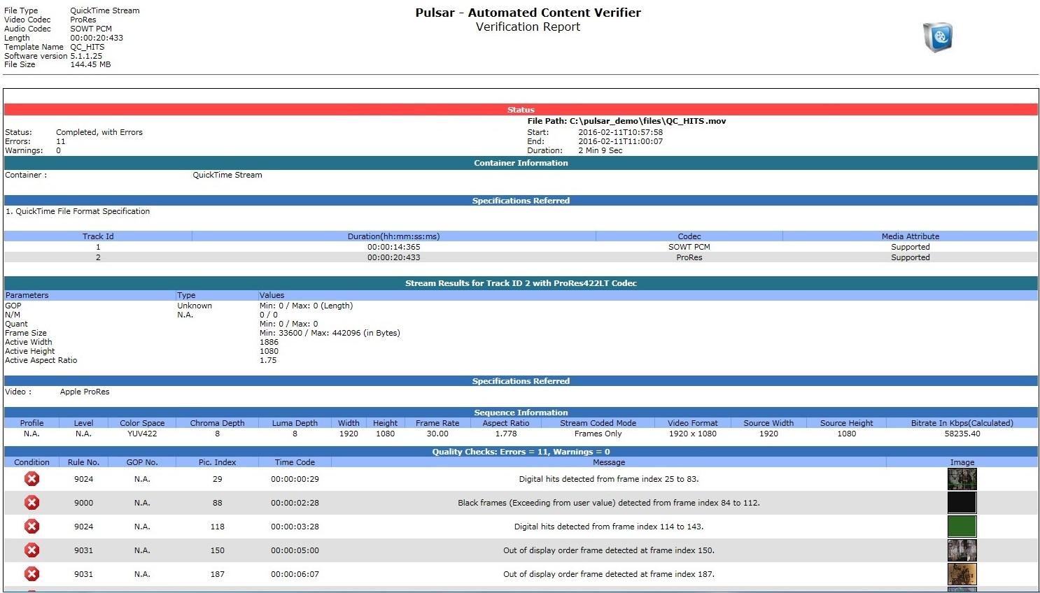 Screenshot - Pulsar Report (5.1.1.27)